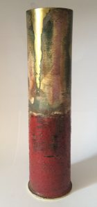 Top Brass, Sam Peacock, Samuel peacock, Art, Artist, Abstract Landscape, painter, artillery shell,